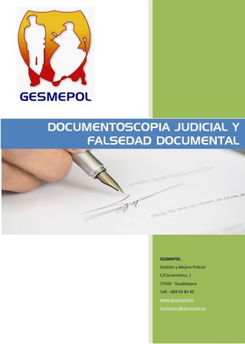 Documentoscopia Judicial y Falsedad Documental
